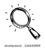 vector black hand draw... | Shutterstock .eps vector #126435809