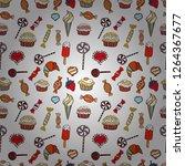 vector illustration. seamless...   Shutterstock .eps vector #1264367677