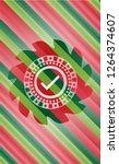 tick icon inside christmas... | Shutterstock .eps vector #1264374607