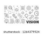vision vector line horizontal... | Shutterstock .eps vector #1264379524