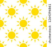 the sun icon  vector... | Shutterstock .eps vector #1264396861