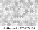 puzzle background in gray... | Shutterstock .eps vector #1264397164