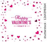 background of romantic heart... | Shutterstock .eps vector #1264398364