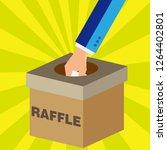 getting winner raffle ticket... | Shutterstock .eps vector #1264402801