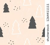 cute christmas trees seamless... | Shutterstock . vector #1264411111