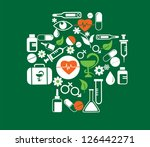medical cross with health icon... | Shutterstock .eps vector #126442271