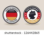 made in germany quality labels   Shutterstock .eps vector #126442865