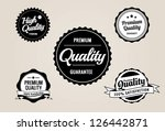 premium quality   guarantee... | Shutterstock .eps vector #126442871