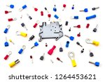 pile of electrical connectors...   Shutterstock . vector #1264453621