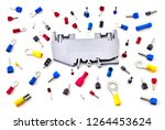 pile of electrical connectors...   Shutterstock . vector #1264453624