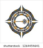 laser icon inside arabesque... | Shutterstock .eps vector #1264454641