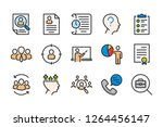 human resource color line icons....