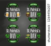 stickers set for saint patricks ... | Shutterstock .eps vector #1264456207