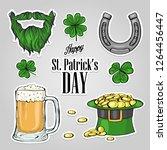 stickers set for saint patricks ... | Shutterstock .eps vector #1264456447