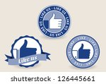 collection of thumb up labels ... | Shutterstock .eps vector #126445661