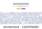 accounting banner concept | Shutterstock .eps vector #1264456684