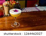 cocktail tropic pisco sour ... | Shutterstock . vector #1264462027