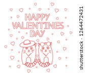 happy valentines day   card... | Shutterstock .eps vector #1264472431
