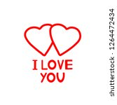 i love you   card with hearts.... | Shutterstock .eps vector #1264472434