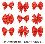 bow knots for new year and... | Shutterstock . vector #1264473091