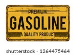 premium gasoline vintage rusty... | Shutterstock .eps vector #1264475464