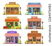 flat store. modern shop ...   Shutterstock . vector #1264476481