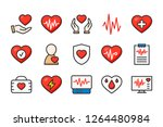 heart medical color line icons. ...   Shutterstock .eps vector #1264480984