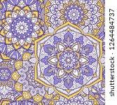 seamless mandala pattern for... | Shutterstock .eps vector #1264484737