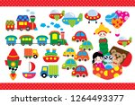 toys cars and doll | Shutterstock .eps vector #1264493377