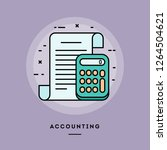 accounting  flat design thin... | Shutterstock .eps vector #1264504621