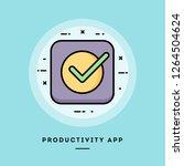 productivity app  flat design...   Shutterstock .eps vector #1264504624