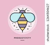 productivity bee  flat design... | Shutterstock .eps vector #1264504627