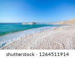 amazing dead sea beach. view of ... | Shutterstock . vector #1264511914
