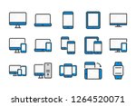 device color line icons. ... | Shutterstock .eps vector #1264520071