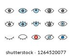 eye and view color line icons....   Shutterstock .eps vector #1264520077