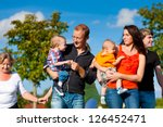 family and multi generation  ... | Shutterstock . vector #126452471