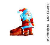 isolated character santa claus... | Shutterstock .eps vector #1264531057
