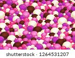 pink and brown seamless pattern.... | Shutterstock .eps vector #1264531207
