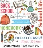 back to school concept doodle... | Shutterstock .eps vector #1264534147
