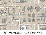 seamless pattern. office top...   Shutterstock .eps vector #1264541554