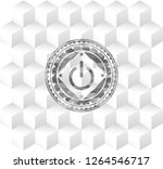 power icon inside grey emblem.... | Shutterstock .eps vector #1264546717