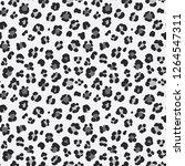 animal leopard seamless hand... | Shutterstock . vector #1264547311