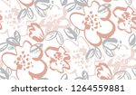 floral blossom hand drawn... | Shutterstock .eps vector #1264559881