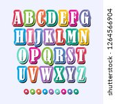 alphabet colorful vector... | Shutterstock .eps vector #1264566904