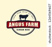 black angus logo design...   Shutterstock .eps vector #1264569607