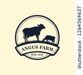 black angus logo design... | Shutterstock .eps vector #1264569637