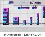 set signage. a set of... | Shutterstock .eps vector #1264571704