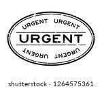 grunge black urgent word oval... | Shutterstock .eps vector #1264575361