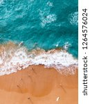 aerial photo of water and sand... | Shutterstock . vector #1264576024