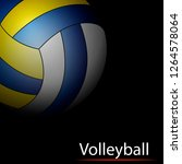 abstract volleyball on a black... | Shutterstock .eps vector #1264578064